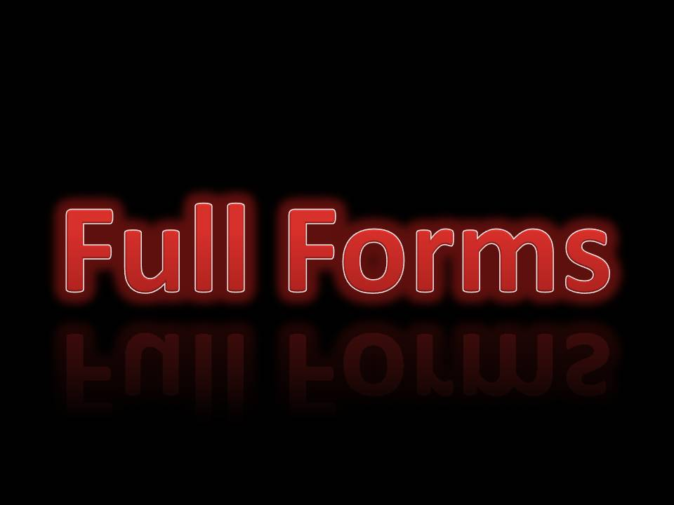 Full forms